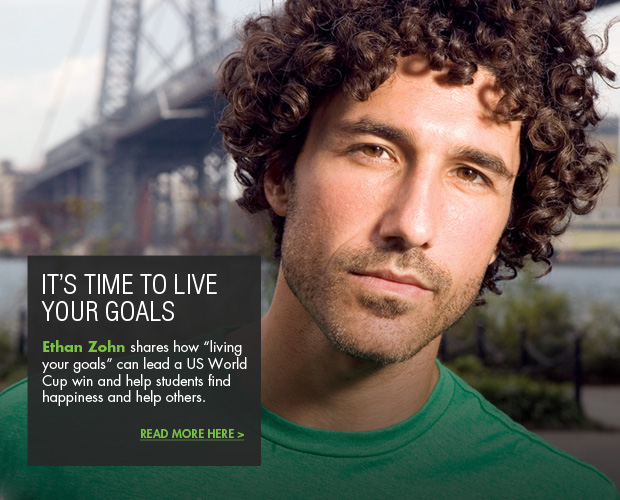 Ethan Zohn blog article It's time to live your goals