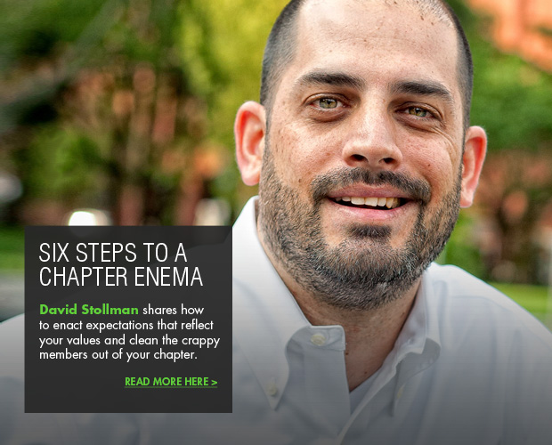 David Stollman blog article Six steps to a chapter enema