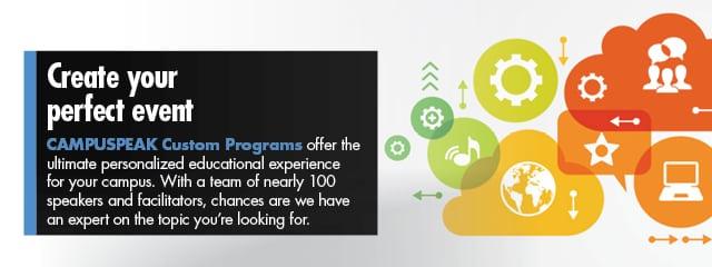 create your perfect event with a campuspeak custom program campuspeak